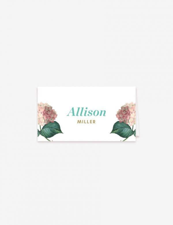 Reception guest name place cards. Customize yours at www.inatondesign.com