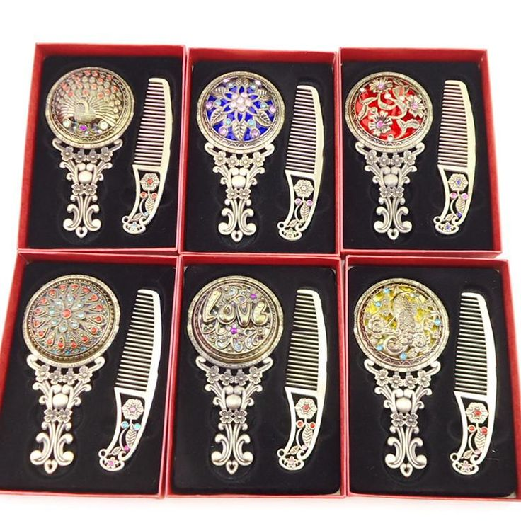Hand #Mirror Fashion Classic Retro Vintage Antique Copper Compact Mirrors Hollow Mirror Comb Sets Gift Shaving Mirror From Nhw1, $4.06| Dhgate.Com