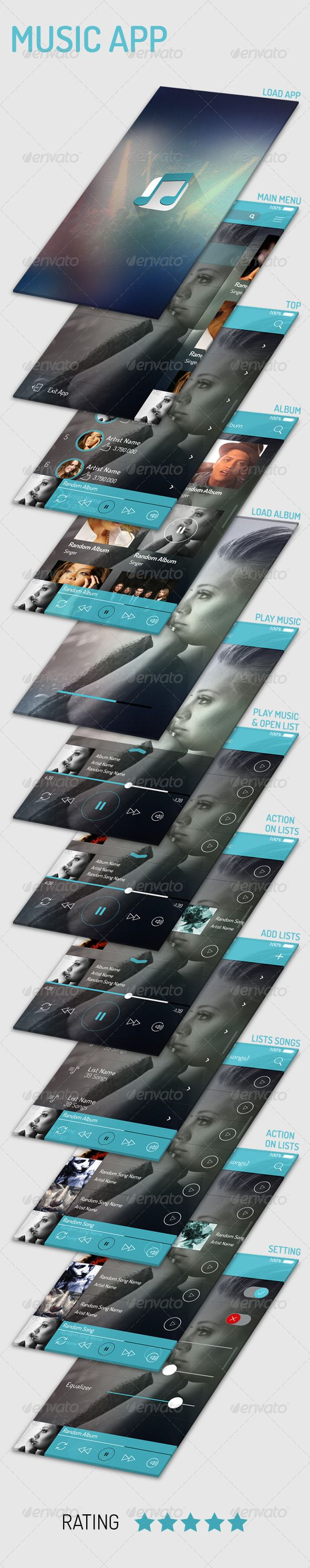 Music App #GraphicRiver