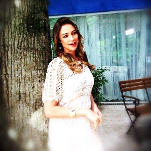 WEBSTA @ alziravieiraoficial - Luana Piovani com nosso vestido no super bonita
