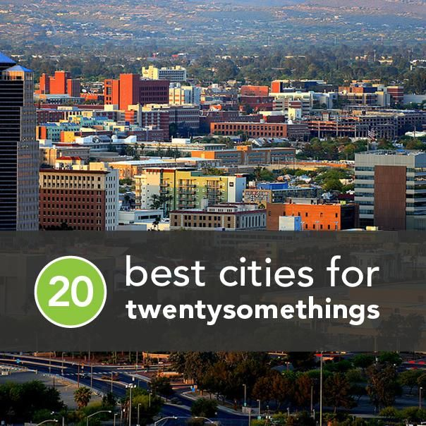 The 20 Best Cities for 20-Somethings...