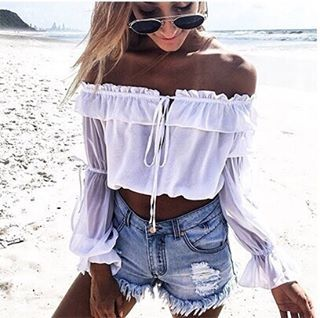 """The new """"Sweet Touch"""" Crop has now landed on our website for only $29.95 AUD ($22.43 USD) with free FASTER worldwide postage  Shop YOURS  STRAIGHT via the link in our Insta bio!  #SataraCrop #SataraMoonlight"""