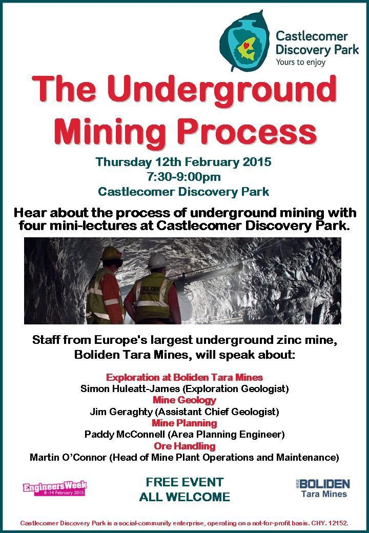 'The Underground Mining Process' @C_DiscoveryPark #Kilkenny