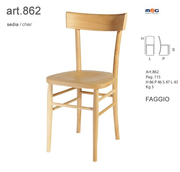 Sedie legno curvato colorate sedute in legno
