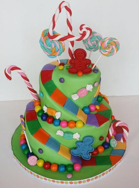 decoracion tarta infantiles chucherias