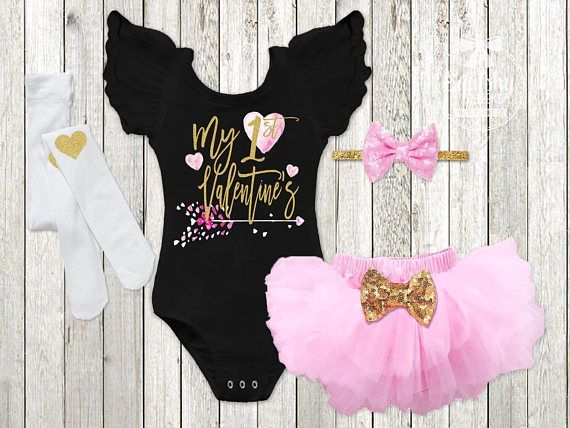 Etsy   Girlu0027s 1st Valentines Day Outfit Baby Girl Valentines Newborn Valentines  Outfit Babyu0027s 1st Valentines