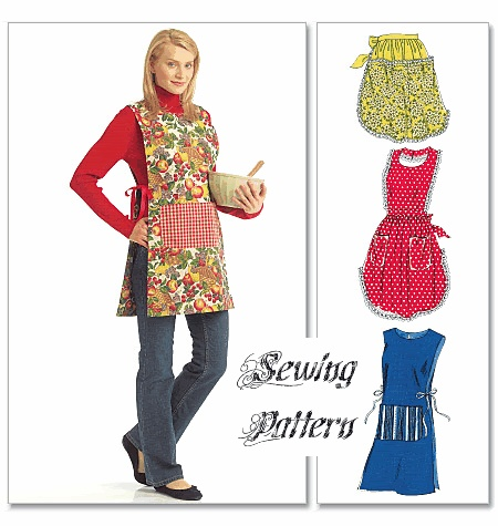 McCall's 40 Easy Apron Tabard Sewing Pattern Aprons Aprons Stunning Tabard Pattern