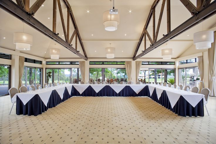 The Barrington Room is equipped with floor to ceiling windows that provide beautiful natural light..  #ChateauElan #Conference #Events #HunterValley #TheVintage #Boardroom #Executive #Australia #Luxury #Hotel