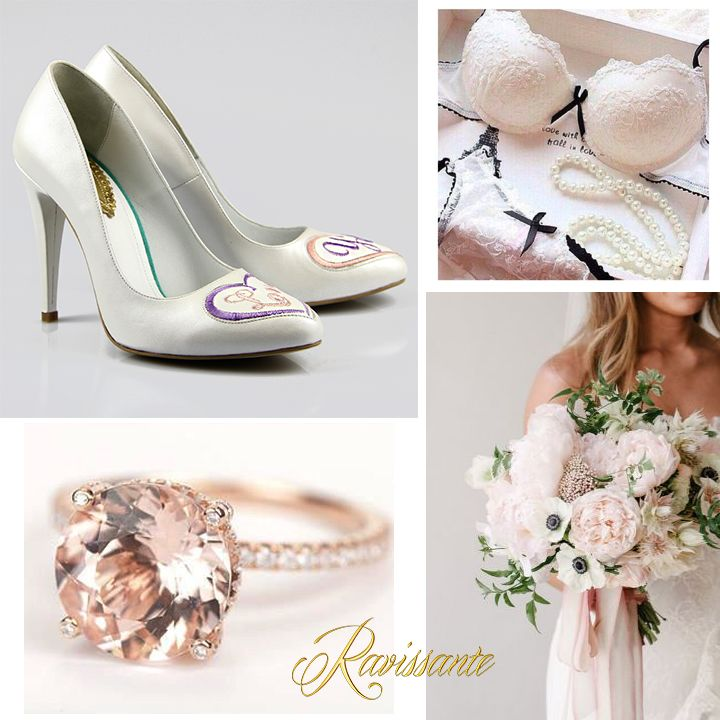 Soft touches of pink, ivory & nudes. How about saying I Love you with your shoes? <3