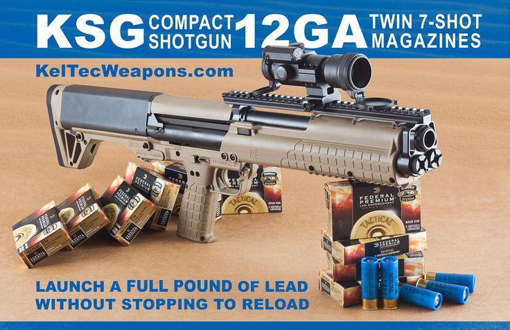 Kel Tec KSG Compact Shotgun: Guns Ammo Weapons Military Etc, Interesting Shotguns, Keltec Shotguns, Firearms, Tactical Shotguns, Compact Shotgun, Guns Guns, Shotguns 1911, 12Gauge Shotguns