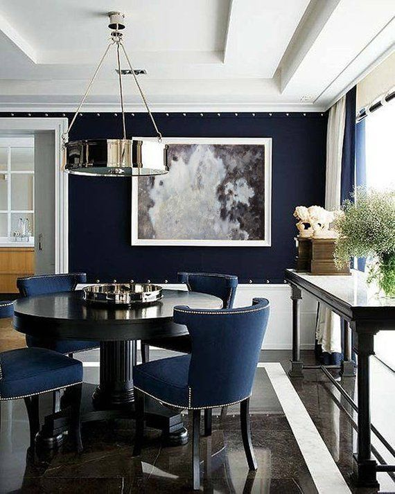 Unique Lamps For A Unique And Extraordinary Interior Design Decoration Let Your Imagination And Inspirati Dining Room Blue Modern Dining Room Dining Room Navy