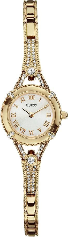 #Guess #Watch , GUESS U0135L2 Women's Yellow Gold-Tone Petite Crystal Watch