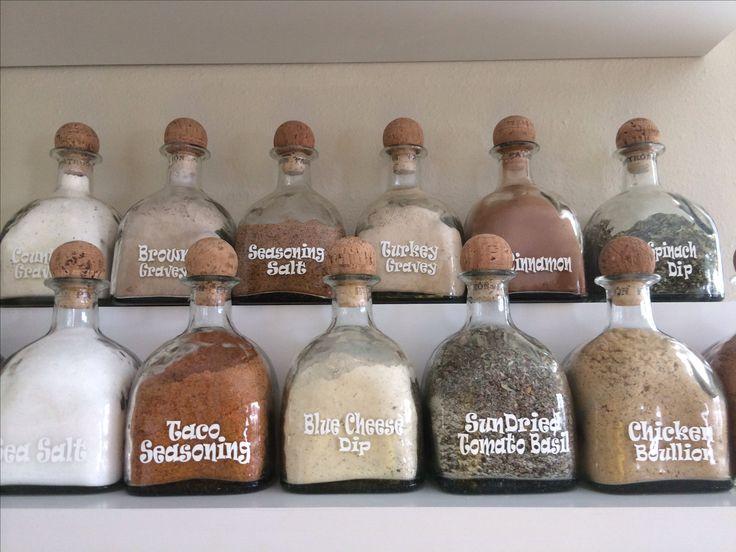 Repurposed patron bottles updated.