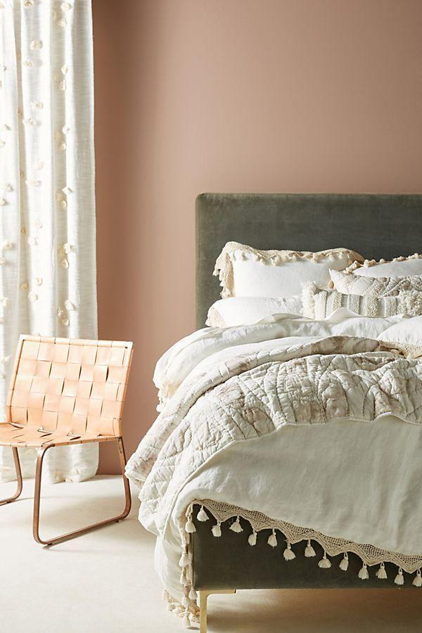 Matrimonio Bed Cover : Tasseled linen duvet cover interiors habitaciones matrimonio