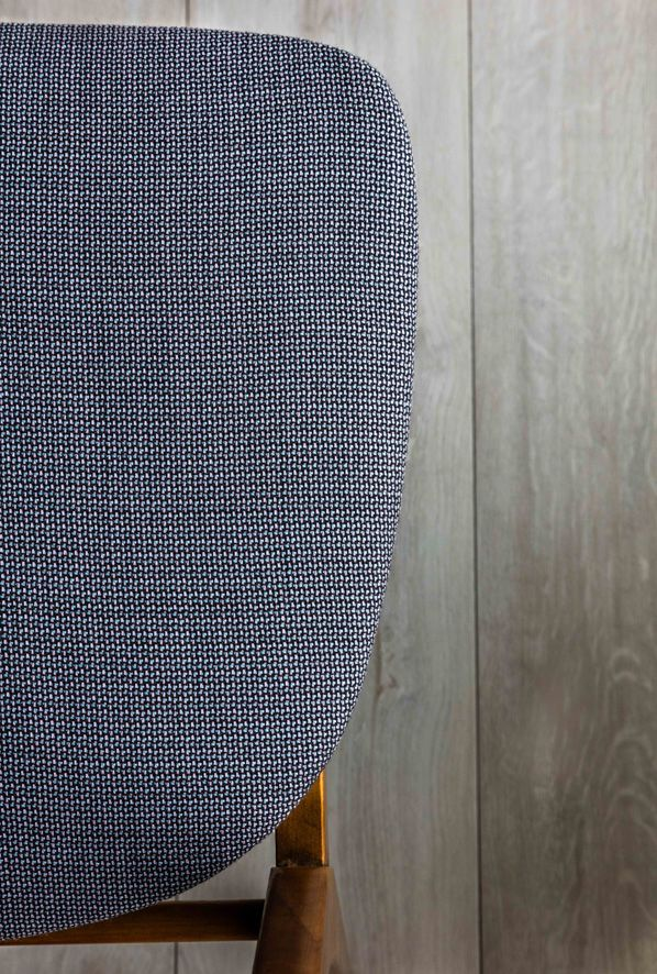 Tonic sustainable textile by Instyle - New muted pastel and saturated tones in this versatile classic texture from the LIFE Textiles collection. Pictured on Farstrup dining chair from Modern Times.