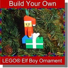 Build-Your-Own LEGO Toy Soldier Holiday Christmas Tree Ornament. $7.00, via Etsy.