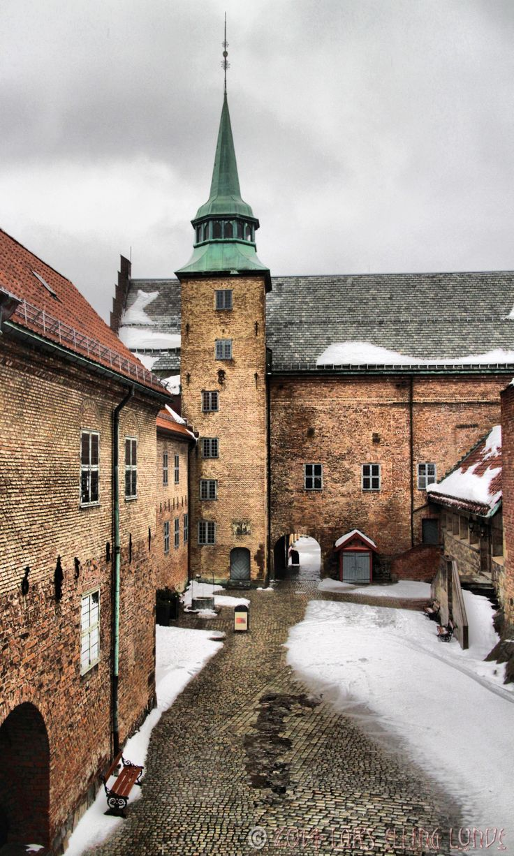 the courtyard of Akershus castle