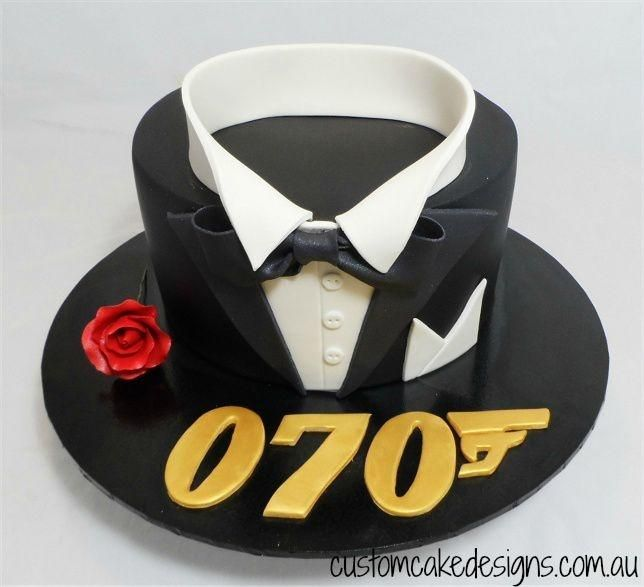 007 70th Birthday Cake by Custom Cake Designs