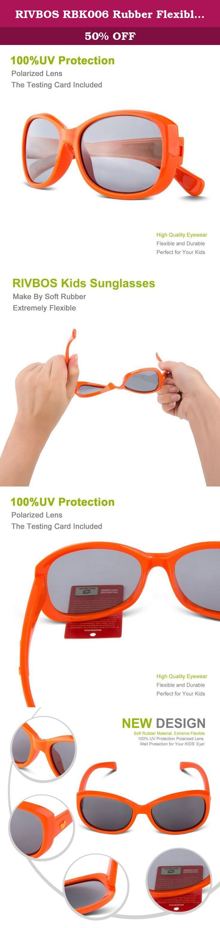 RIVBOS RBK006 Rubber Flexible Kids Polarized Sunglasses Age 3-10 (Orange Heart). Provide The High Quality Sunglasses and Customer Service on Amazon RIVBOS Kid's Sunglasses are designed for children's outdoor activities. Lens made by flexible food grade rubber bendable material are safe for kids. Our Newest Polarized Lenses drastically reduce the brightness of shiny surfaces as well as helps reduce glare which in turn helps kids see the many beauties of the word without damaging their eyes...