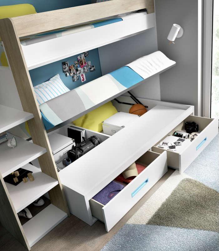 S cale partido a las habitaciones peque as literas - Habitaciones juveniles espacios pequenos ...