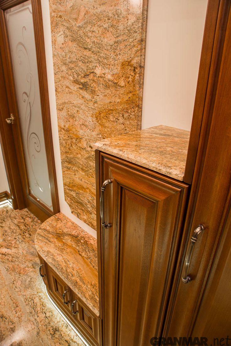 i jeszcze półeczki z #granite #Imperial #Gold #interior