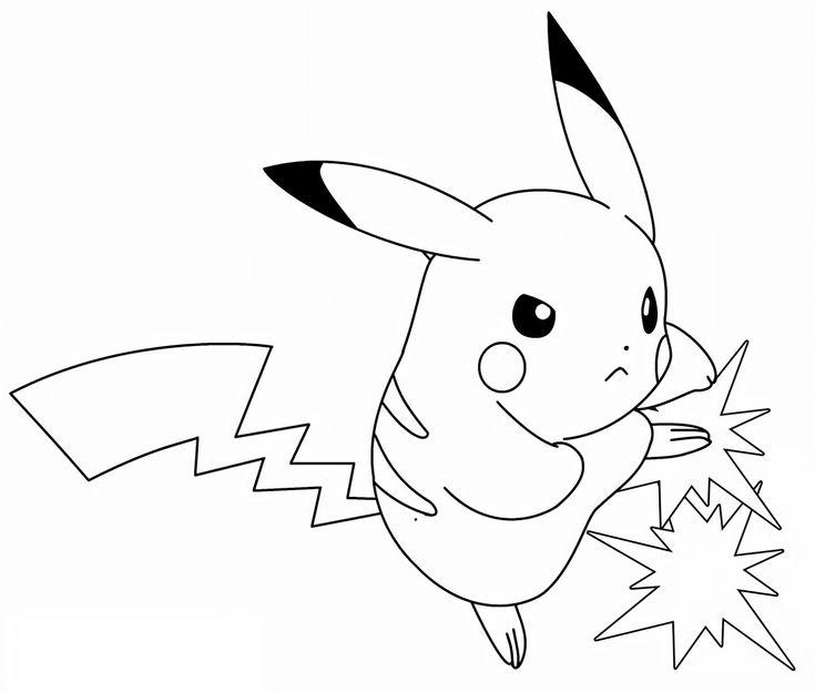 Pokemon pikachu lightning bolt drawing line art in 2020 ...