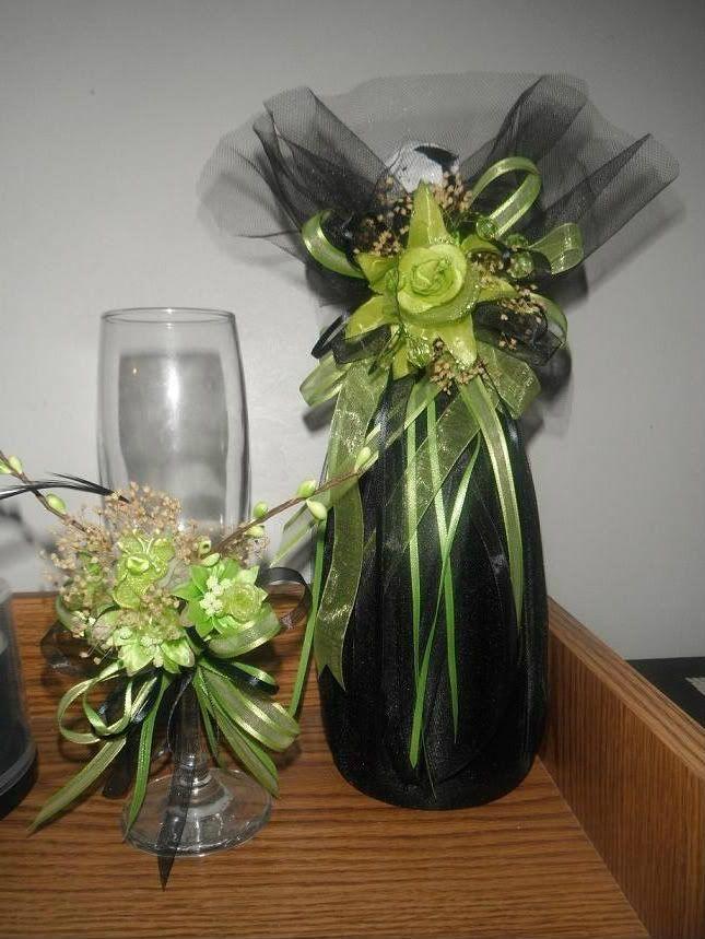 Arreglos para brindis decoracion y brindis de xv a os en - Decoracion de botellas ...