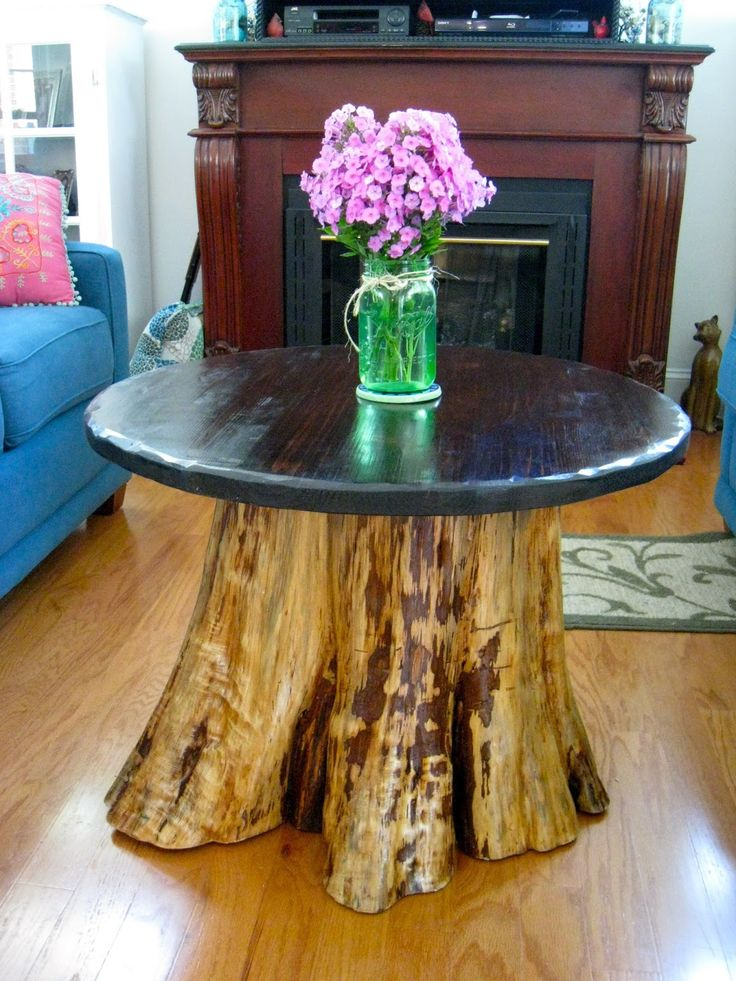 Repurposed For Life: FROM CEDAR STUMP TO COFFEE TABLE