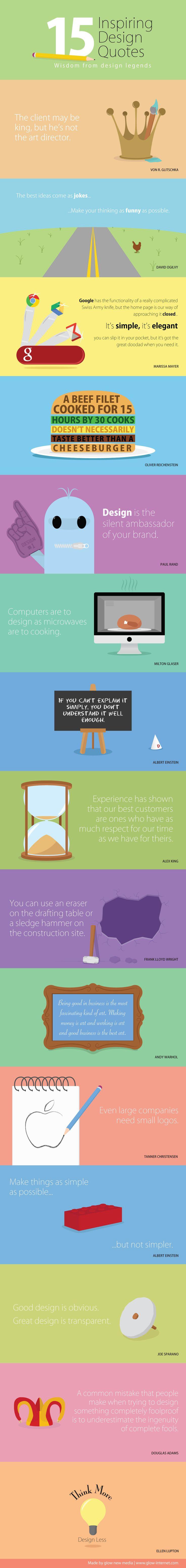 Glow newmedia - 15 Inspiring Design Quotes Infographic