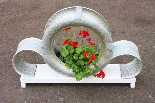 Recycle Tire Planter 2                                                       …