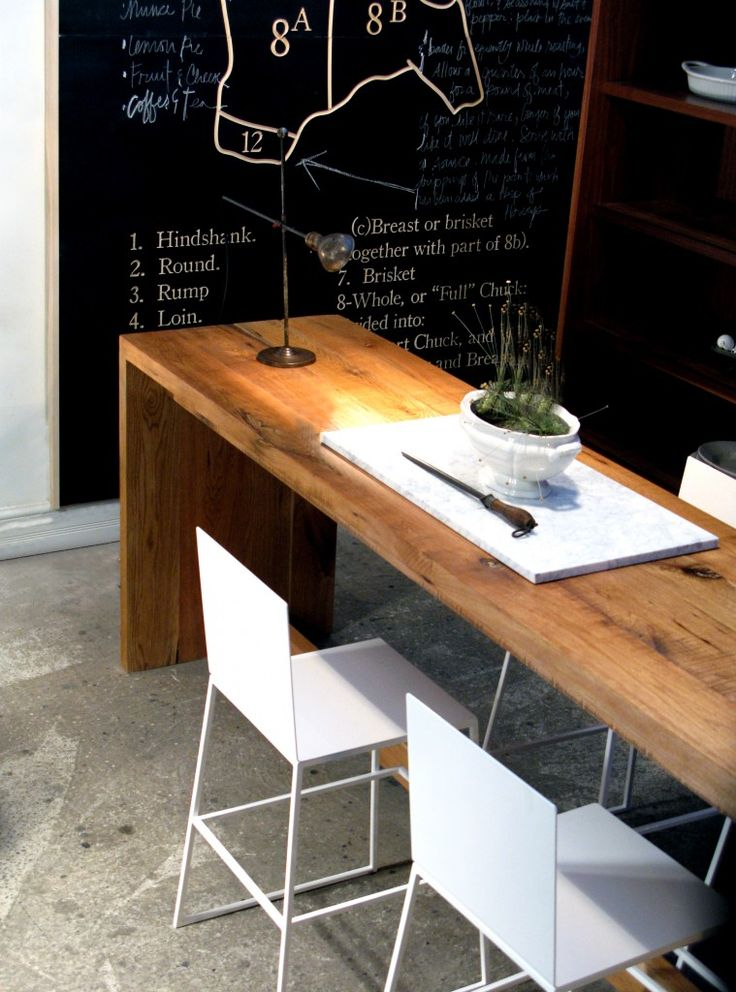 Would love 2 long narrow tables one for laptop desk for Thin dining table