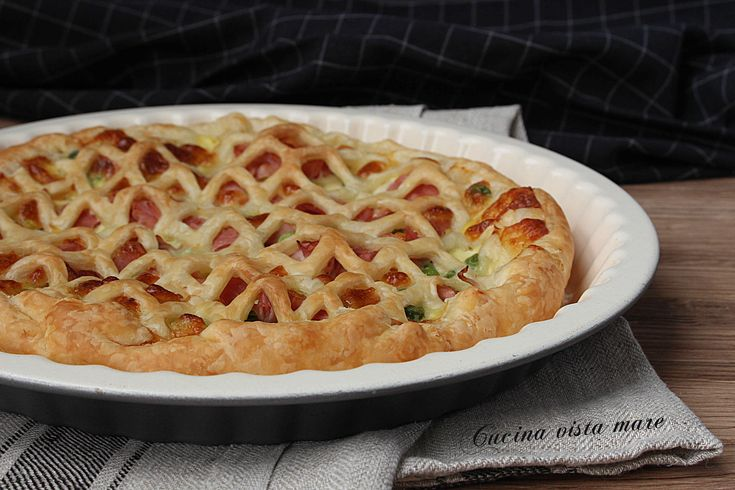 Torta+salata+prosciutto+cotto+e+provola