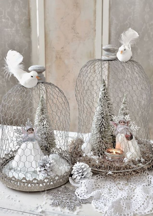 top 40 shabby chic christmas decorations - Handmade Shabby Chic Christmas Decorations