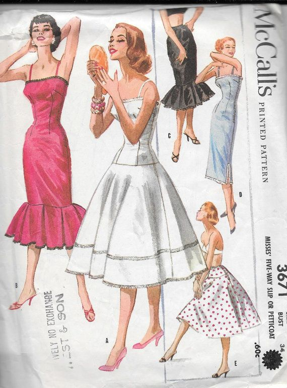 Vintage 1950s McCall\'s Sewing Pattern 3671 by SewAddicted2SewMuch ...
