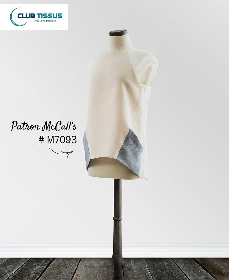 PASSION COUTURE! Patron McCall's #7093 #chandail #lin #été #vêtement #mode