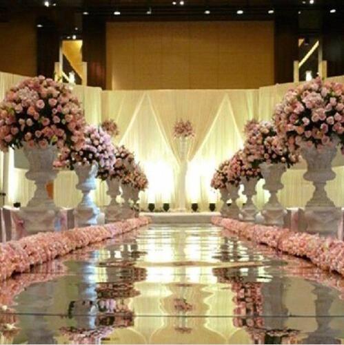 Matrimonio Rustico Queen : M wide shine silver mirror carpet aisle runner for