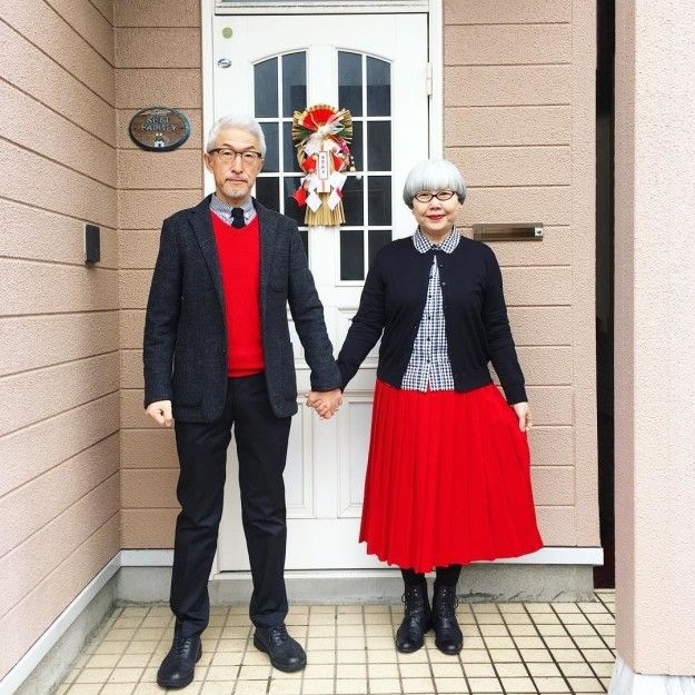 When asked about the secret behind their long union, Mrs. Pon credited her husband's busy work schedule. | This Japanese Couple Match Their Outfits And People Are Obsessed With Them