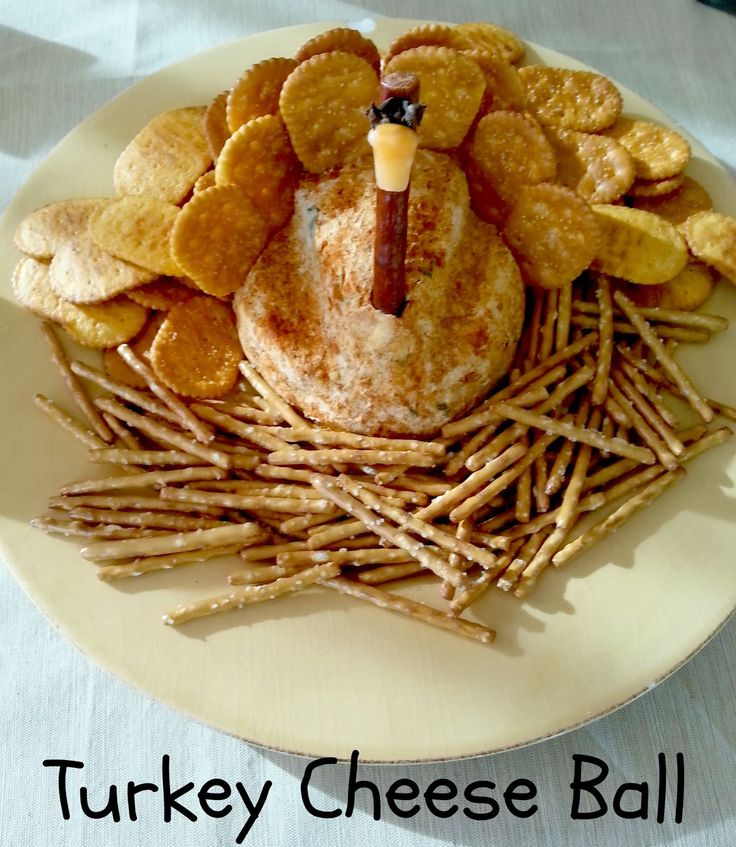 "I Have A New Site Called Chocolates and Crockpots! Come Check It Out!: A ""Turkey"" Cheese Ball"