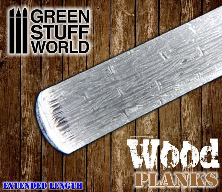Rolling Pin - WOOD PLANKS Texture - for Warhammer and miniature bases in general #GreenStuffWorld