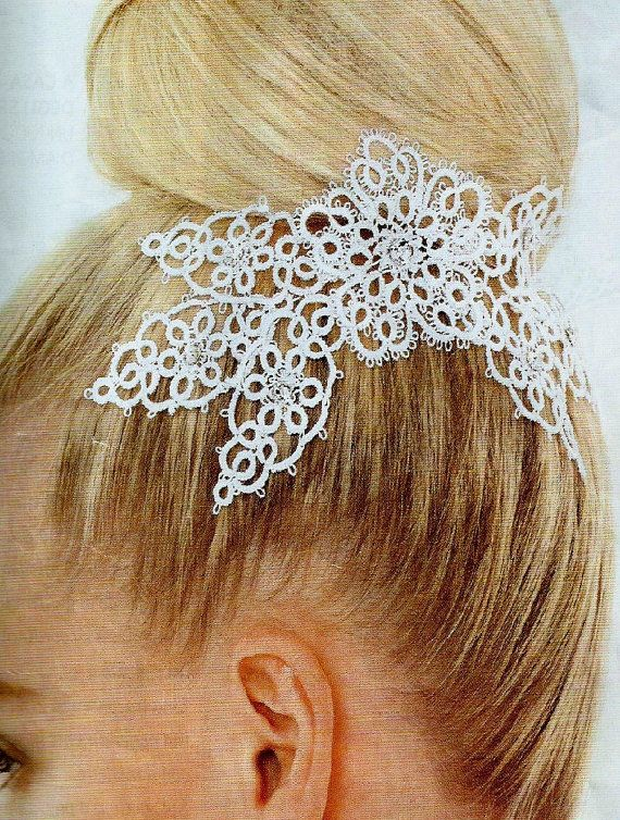 Wedding hairstyle in tatting by CharmingSicily on Etsy
