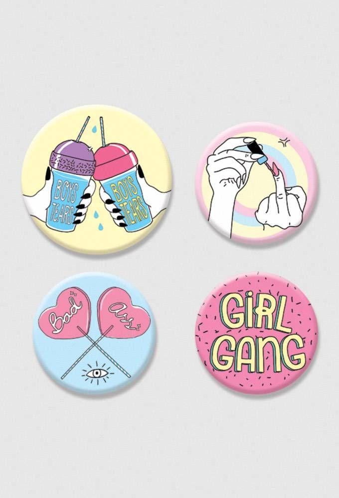 Kit de Bottons - Girl Gang ZI8806