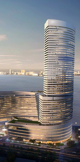 Xiamen Eton Center North Tower, Xiamen, China designed by NBBJ Architects :: 51 floors, height 229m