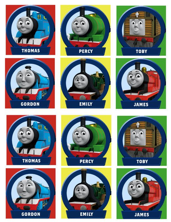 Thomas The Train And Friends Cupcake Toppers Instant Download