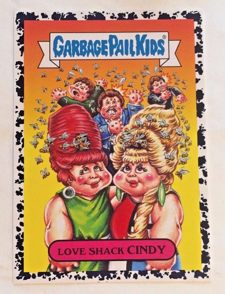 Garbage Pail Kids Battle Of The Bands Love Shack Cindy 3b Bruised Black GPK 2017