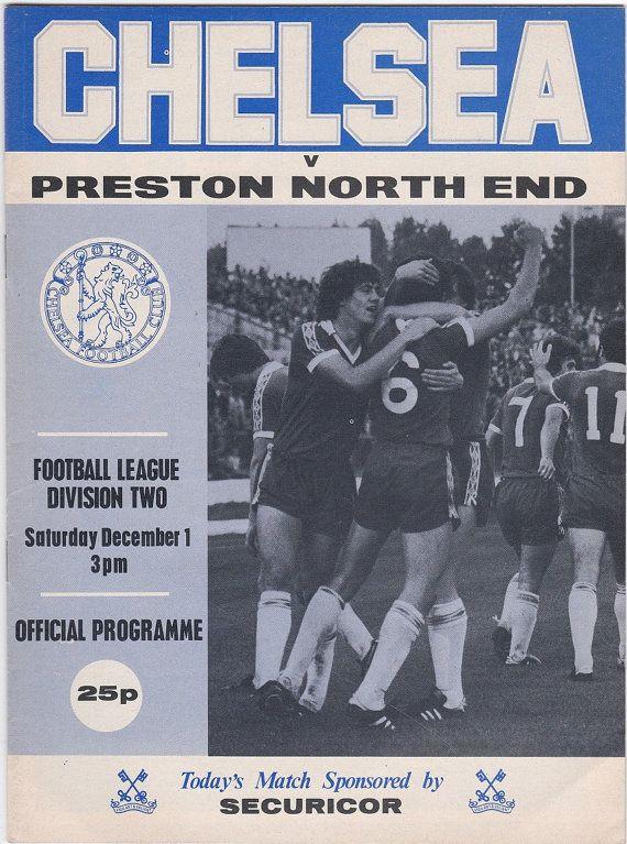 Vintage Football (soccer) Programme - Chelsea v Preston North End, 1979/80 season #football #soccer #chesea