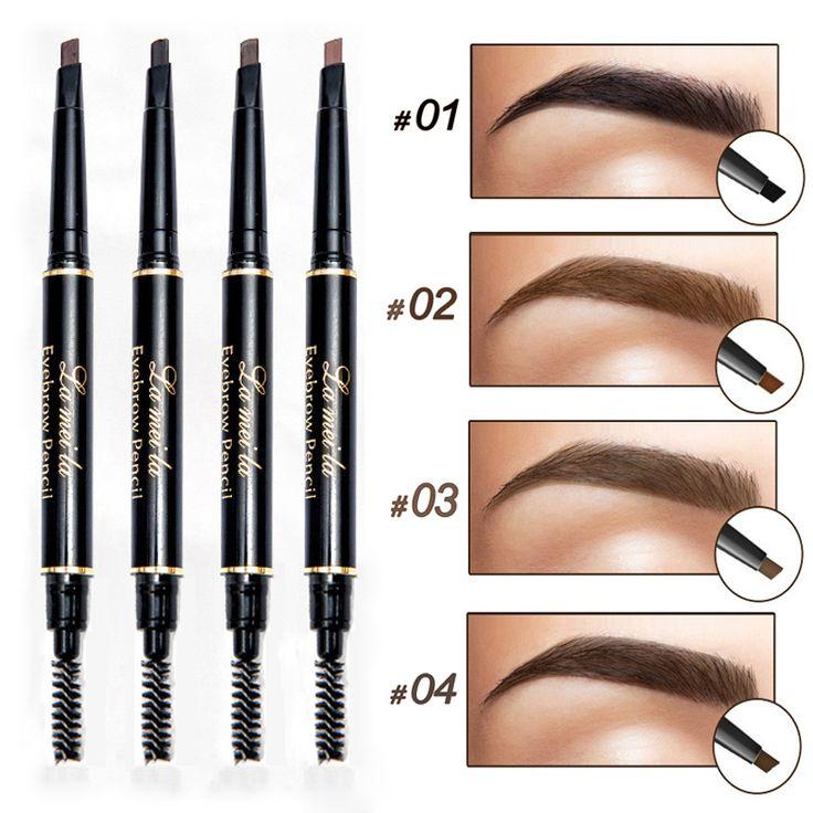 Nueva Marca Tinte de Cejas Ojos Cosméticos Pintura Tatuaje de Cejas Naturales De Larga Duración A Prueba de agua Negro Maquillaje Lápiz de Cejas Marrón
