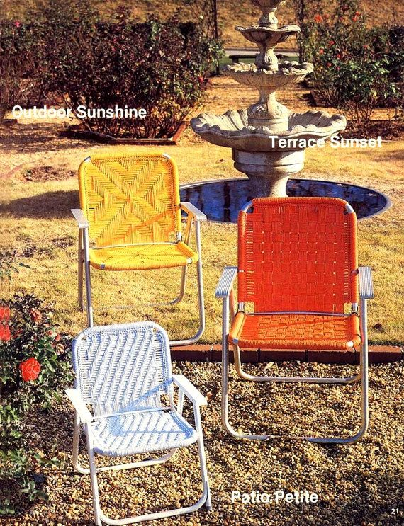 Vintage Macrame Craft Book Furniture Fan Fare Make Your