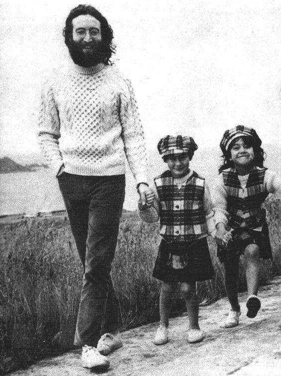 John Lennon, Julian Lennon, and Kyoko Ono: