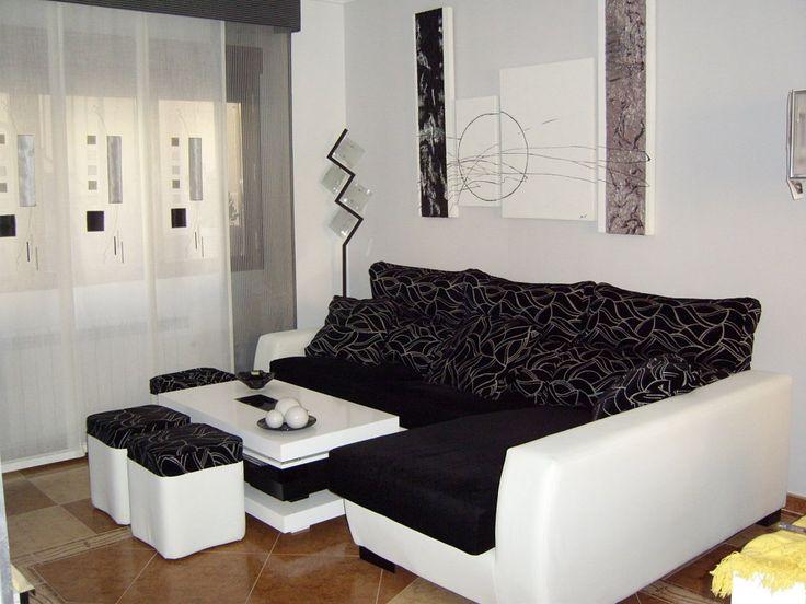 Las 25 mejores ideas sobre sof negro en pinterest - Salones con sofa negro ...