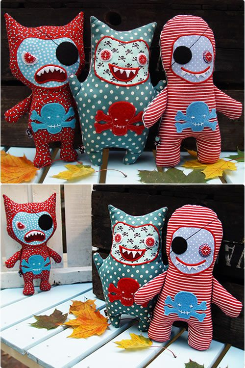 monsters! @Doreen Crider I can see these next to those weird looking ones in your guest room!!!